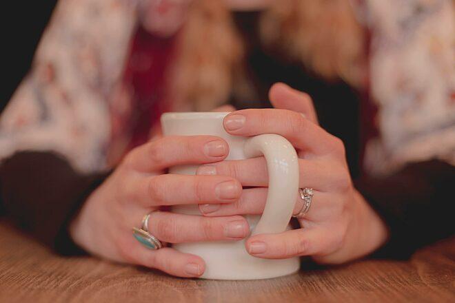 Koffie handen