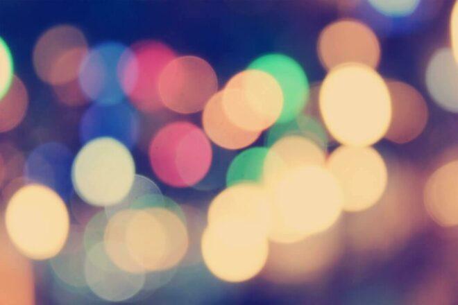 Wazige lichtbollen